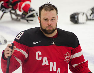 Billy Bridges Canadian ice sledge hockey player