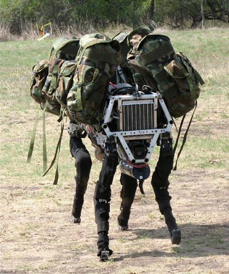 Bio-inspired Big Dog quadruped robot is being developed as a mule that can traverse difficult terrain