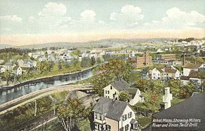 Athol, Massachusetts - Image: Bird's eye View of Athol, MA