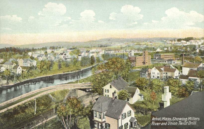 Bird's-eye View of Athol, MA
