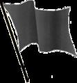 Black flag waving transparent.png