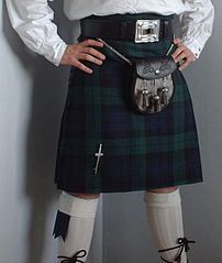 a dark coloured kilt