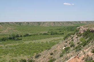 Quivira - Coronado found the Teyas Indians in Blanco Canyon, east of present-day Lubbock, Texas. The Querechos lived on the flat Llano Estacado above the canyon.