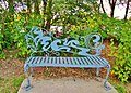 Blue bench. - Trois B. Beau banc bleu - panoramio.jpg
