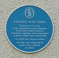 Blue plaque, Golden Acre Park, Adel - geograph.org.uk - 1474557.jpg