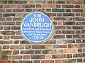 Blue plaque to Sir John Vanbrugh - geograph.org.uk - 1145174.jpg