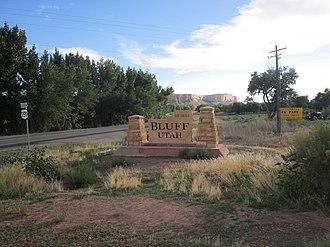 Bluff, Utah - Image: Bluff, Utah (from east)