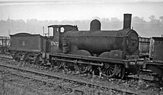 Caledonian Railway 294 and 711 Classes - 711 class No. 57472 at Bo'ness 4 October 1961