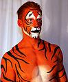 Bodypainted Tiger Human Statue Bodyart (8273547037).jpg