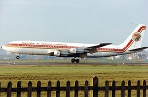 EgyptAir Flight 864 - A Boeing 707-320C of EgyptAir, similar to the accident aircraft