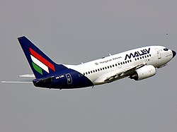 Boeing 737 Malev Hungarian Airlines.JPG
