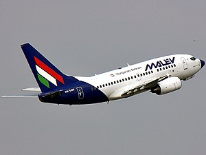 Boeing 737-6Q8 Malev Hungarian Airlines Regist...