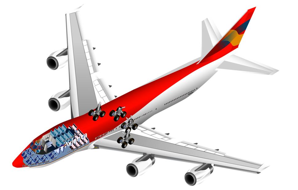 Boeing 747 cutaway