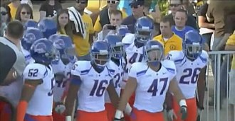 2010 Boise State Broncos football team - Boise State team about to take the field