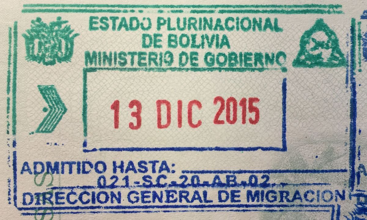 visa policy of bolivia