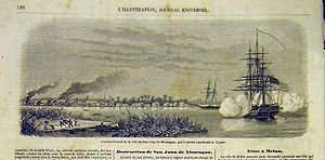 Bombardment of San Juan del Norte, 1854.jpg