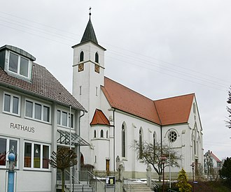 Boms - Boms Church and Town hall