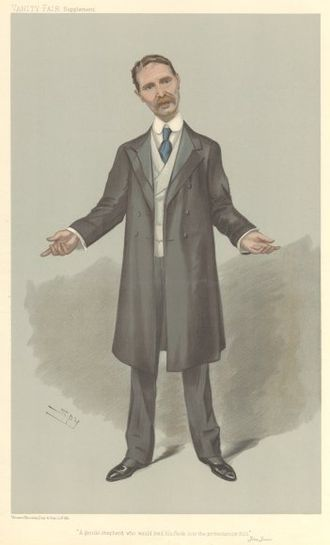 Bonar Law - Bonar Law caricatured by Spy for Vanity Fair, 1905