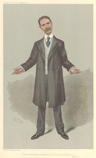 Bonar Law - Bonar Law caricatured by Spy for Vanity Fair, 1905
