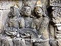 Borobudur - Divyavadana - 064 W, (Rudrayanavadana) King Rudrayana questions the Merchants (detail 1) (11707208296).jpg