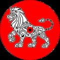 Bouclier carolingien de gueules au lion d'argent.png