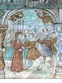 Brøns kirke - Wandmalerei 1 a - Judaskuss.jpg
