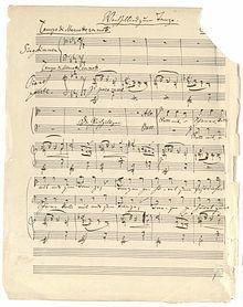 Brahms-Autograph (Wechsellied zum Tanze op. 31,1) aus dem Nachlass Theodor Avé-Lallemants (Quelle: Wikimedia)