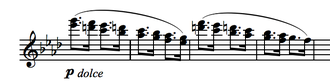 Symphony No. 1 (Brahms) - The B theme as stated by the flutes