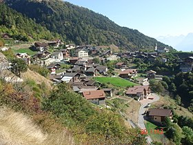 Vue du village de Bratsch