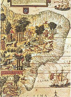 Antiguo mapa del Brasil