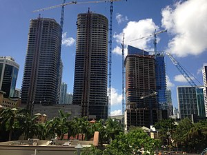 Brickell Heights - Image: Brickell Heights construction