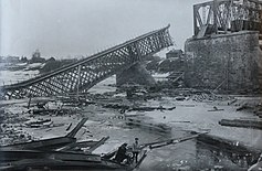 Bridge near Jambourg, on the river Luga (1919) (14150975787).jpg
