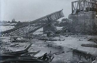 Kingisepp - Yamburg Bridge, destroyed by the White Army, 1919
