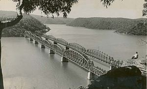 Hawkesbury River Railway Bridge - First and second bridges side by side