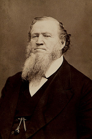 1872 in the United States - Image: Brigham Young by Charles William Carter