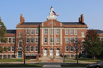 Brighton High School (Rochester, New York) - Image: Brighton High School New York Front