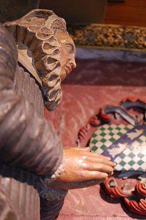 John Young (died 1589) - Image: Bristol Cathedral Young monument detail 2