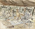 British Prisoners-of-war after Rescue from Kutching, Borneo Art.IWMARTLD5885.jpg