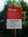British Rail pedestrian level crossing warning sign.jpg