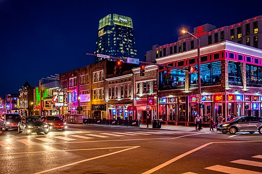 Broadway (Nashville) lights