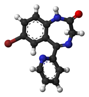 Bromazepam - Image: Bromazepam from xtal 3D balls