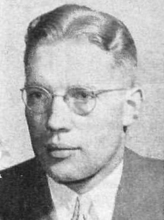 Bruce R. McConkie - McConkie, ca. 1946, while a member of the First Council of Seventy.
