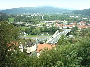 Gemünden am Main - Old and new bridges in Gemünden