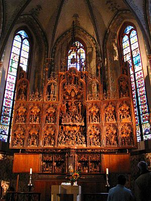 Schleswig Cathedral - The altar, carved by Hans Brüggemann from 1514 to 1521 is the cathedral's main attraction