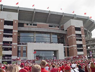 2006 Alabama Crimson Tide football team - The north end of Bryant-Denny Stadium was officially opened for the Hawaiʻi game
