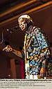 Buddy Guy performing and interacting with the crowd in Albany, Indiana, August 20, 2011