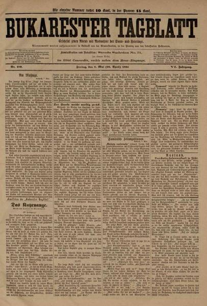 File:Bukarester Tagblatt 1885-05-08, nr. 100.pdf