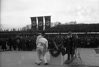 Carl Friedrich Goerdeler - Hitler and Goerdeler during the former's visit to Leipzig, 6 March 1934