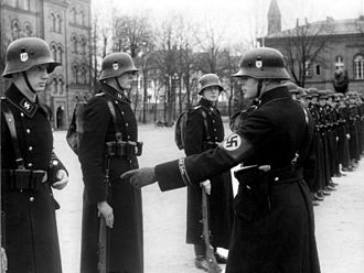 Schutzstaffel - Troop inspection in Berlin of Leibstandarte Adolf Hitler, 1938