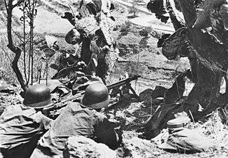 15th Panzergrenadier Division (Wehrmacht) - Machine gun position in Sicily